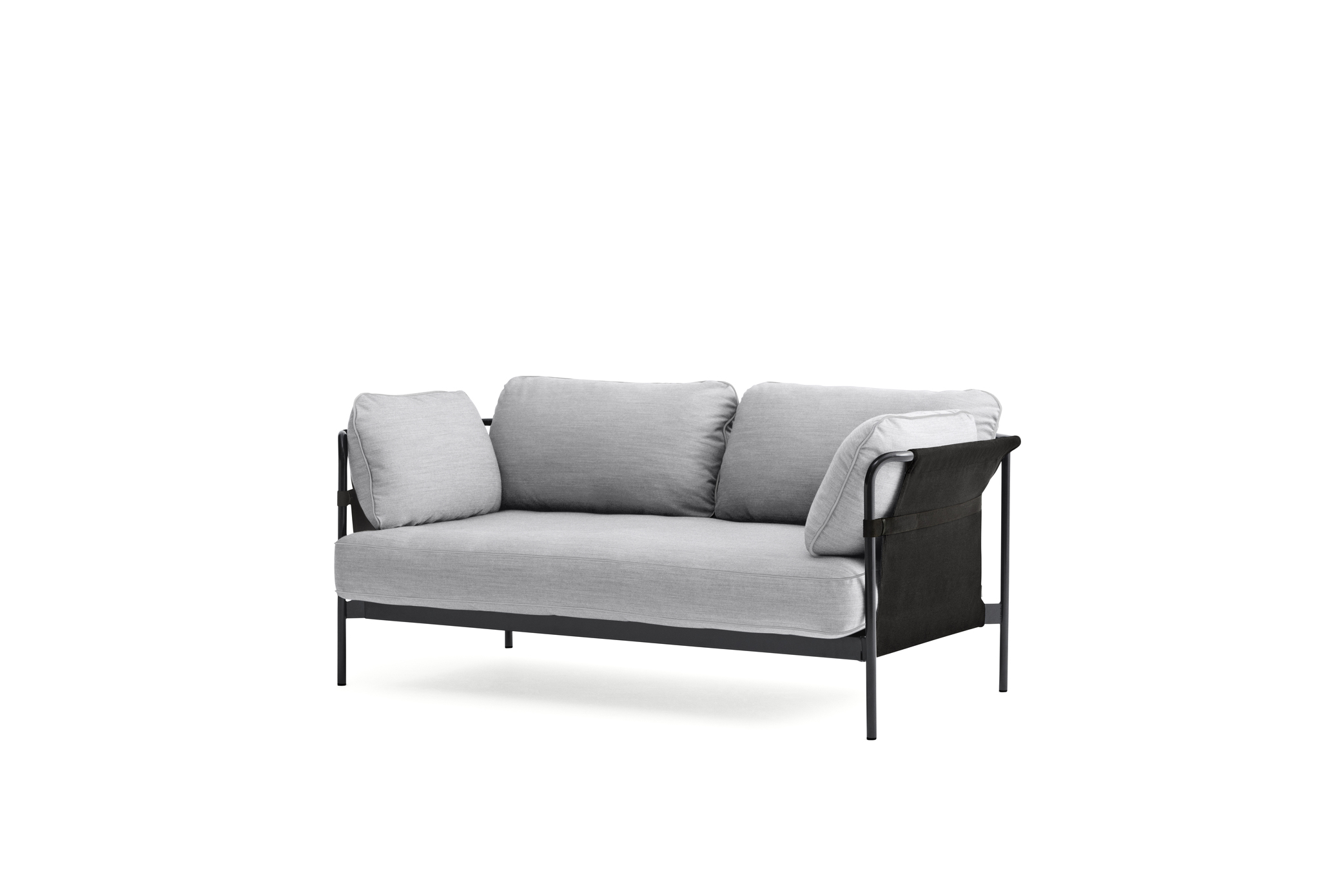 Can Sofa, 2 Seater, Black Frame