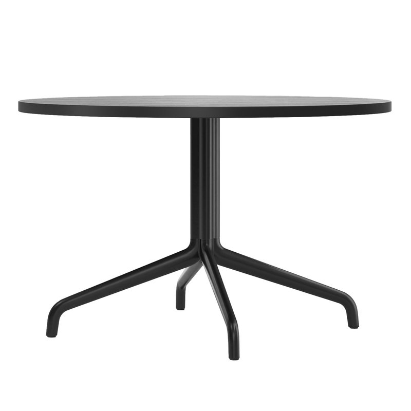 Harbour Column lounge table, 80 cm, black base – black stained oak