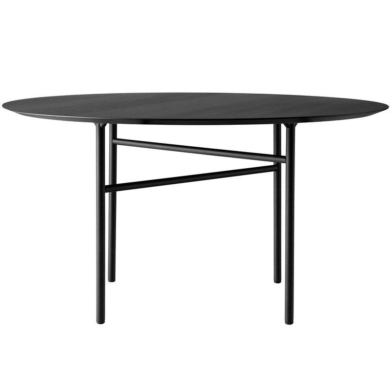 Snaregade table round 138 cm, black oak