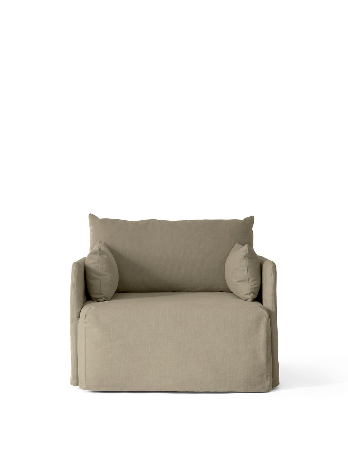 Offset Armchair with Loose Cover